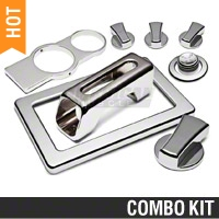 Modern Billet Chrome Billet Interior Complete Kit - Manual (05-09 All)