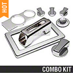 Chrome Billet Interior Complete Kit - Manual (05-09 All)