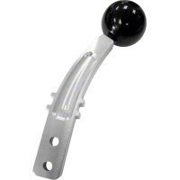 Steeda Billet Pro Street Shifter Handle - Black Knob (79-10 All) - Steeda 555-7156