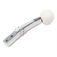 Steeda Billet Pro Street Shifter Handle - White Knob (79-10 All) - Steeda 555-7157