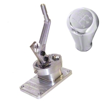 Steeda Tri-Ax Shifter and Polished Billet Shift Knob - T-5/T-45 (82-Early 01 V8; 93-99 Cobra; 94-04 V6) - Stack Racing||Steeda 16013||555-7353||41003