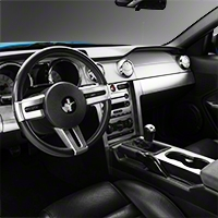 Brushed Aluminum Dash Overlay Kit (05-09 All) - AM Interior 0212-RBA-Manual-All||0212-RBA-Auto-All