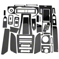Carbon Fiber Dash Overlay Kit (10-12 All) - AM Interior 0186-RBA-Manual-GPS||0186-RBA-Man-woGPS||0186-RBCF-Auto-GPS||0186-RBCF-Auto-woGPS