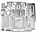 Brushed Aluminum Dash Overlay Kit (10-14 All) - AM Interior 0186-RBA-Auto-GPS||0186-RBA-Auto-woGPS||0186-RBA-Man-GPS||0186-RBA-Man-woGPS