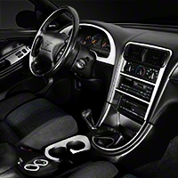 Brushed Aluminum Dash Overlay Kit (01-04 All) - AM Interior mimo-0211a-RBA