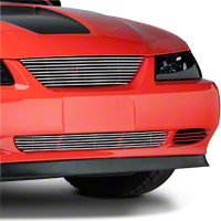 Modern Billet Polished Pony Delete Billet Grille - Upper (99-04)