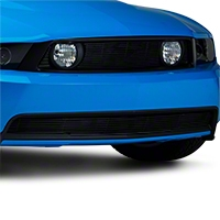 Modern Billet Black Pony Delete Billet Grille - Lower (10-12 GT)