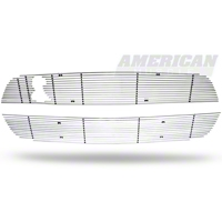 Modern Billet Polished Mustang Billet Upper & Lower Grille Combo (10-12 GT500) - Modern Billet 41125||41127||GRL-10-GT500-LOW||GRL-10-GT500-UPP||KIT