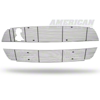 Modern Billet Black Mustang Billet Upper & Lower Grille Combo Kit (10-12 GT500) - Modern Billet 41126||41128||GRL-10-GT500-LOW-BLK||GRL-10-GT500-UPP-BLK||KIT