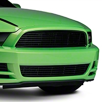 Modern Billet Black Retro Grille - Lower (13-14 GT)