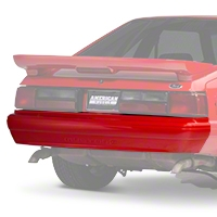 Rear Bumper Cover w/ Mustang Lettering - Unpainted (87-93 LX) - AM Restoration E7ZZ-17835-A