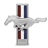 Running Pony Tri-Bar Dash Emblem - AM Restoration F1ZZ-6104460