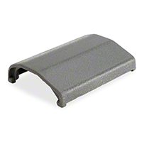 Seat Belt Buckle Cover - Gray (83-89 All) - AM Restoration E4ZZ-6161264-G