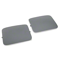Hatchback Shock Access Covers - Gray (87-89 All) - AM Restoration E7ZZ-6131228-G