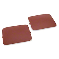 Hatchback Shock Access Covers - Red (87-89 All) - AM Restoration E7ZZ-6131228-R||E7ZZ-6131228-R
