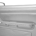 Chrome Arm Rest Accent Trim - Pair (87-93 All) - AM Restoration E7ZZ-6124150