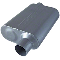 Flowmaster 40 Series Offset Muffler - Stainless Steel 2.5in (79-04 All, Excludes 99-04 Cobra) - Flowmaster 8042543