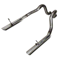 Flowmaster 2.5 in. Stainless Tailpipes (87-93 LX; 86 GT) - Flowmaster 815814