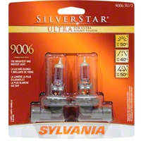 Sylvania Silverstar Ultra Light Bulbs - 9006 - Sylvania 9006SUBP8TWIN