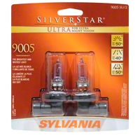Sylvania Silverstar Ultra Light Bulbs - 9005 - Sylvania 9005SUBP8TWIN