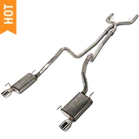 Pypes True Dual Exhaust (05-10 V6) - Pypes SFM68