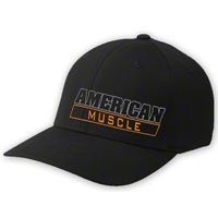 AmericanMuscle Flex-Fit Hat - Black - AM Accessories AM-HAT-SMMD||AM-HAT-LGXL
