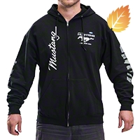 The Legend Lives Zip-Up Hoodie - Black - AM Accessories MUS-9S3-CLG2-BLK