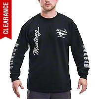 The Legend Lives Long Sleeve Tee - Black - AM Accessories MUS-8L3-CLG2-BLK