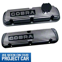 Ford Racing Black Cobra Valve Covers (86-93 5.0L) - Ford Racing M-6000-C302