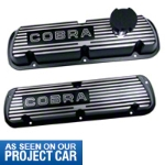 Ford Racing Black Valve Covers w/ Cobra Logo (86-93 5.0L) - Ford Racing M-6000-C302