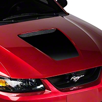 Black Hood Decal (99-04 GT & 99-02 V6) - AmericanMuscle Graphics 26002