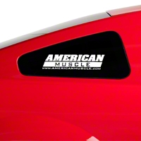 AmericanMuscle Quarter Window Decal - White (05-14 All) - American Muscle Graphics 26023