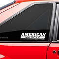 AmericanMuscle Quarter Window Decal - White (79-93 All) - AmericanMuscle Graphics 26023