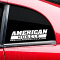 AmericanMuscle Quarter Window Decal - White (94-04 All) - American Muscle Graphics 26023