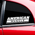AmericanMuscle Quarter Window Decal - White (79-14 All) - American Muscle Graphics 26023