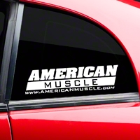 AmericanMuscle Quarter Window Decal - White (79-14 All) - AmericanMuscle Graphics 26023