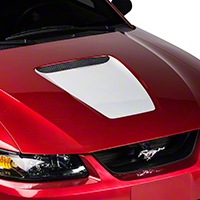 White Hood Decal (99-04 GT & 99-02 V6) - AmericanMuscle Graphics 26034