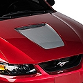 Silver Hood Decal (99-04 GT & 99-02 V6) - American Muscle Graphics 26035