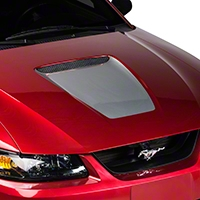 Silver Hood Decal (99-04 GT & 99-02 V6) - AmericanMuscle Graphics 26035