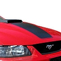 Black Mach 1 Hood Decal (99-04 Mach 1) - American Muscle Graphics 26047