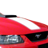 White Mach 1 Hood Decal (99-04 Mach 1) - AmericanMuscle Graphics 26049