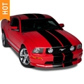 Black Lemans Stripes - 12 in. (05-14 All) - American Muscle Graphics 26050