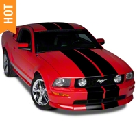 Black Lemans Stripes - 12in (05-14 All) - AmericanMuscle Graphics 26050
