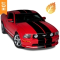 Black Lemans Stripes - 12in (05-14 All) - American Muscle Graphics 26050