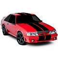 Black Lemans Stripes - 12in (79-93 All) - American Muscle Graphics 26050