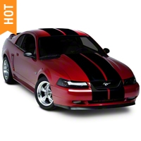 Black Lemans Stripes - 12in (94-04 All) - American Muscle Graphics 26050
