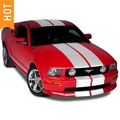 White Lemans Stripes - 12in (05-14 All) - AmericanMuscle Graphics 26051
