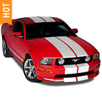 White Lemans Stripes - 12 in. (05-14 All) - American Muscle Graphics 26051