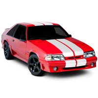 White Lemans Stripes - 12in (79-93 All) - American Muscle Graphics 26051