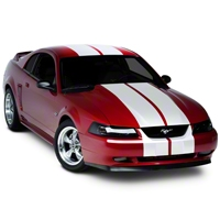 White Lemans Stripes - 12in (94-04 All) - American Muscle Graphics 26051